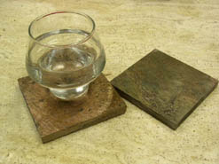 copper stone drink coasters