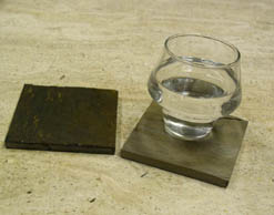 gold blush slate coasters