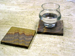 rainbow sandstone drink coasters