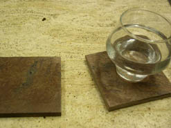 red earth drink coasters