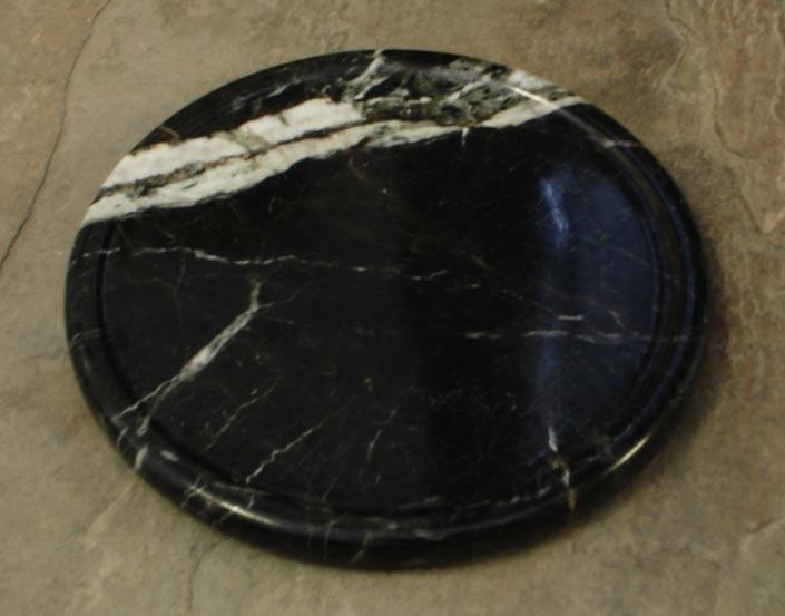 Midnight Lightning Marble Stone Coasters