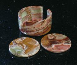 onyx stone coasters