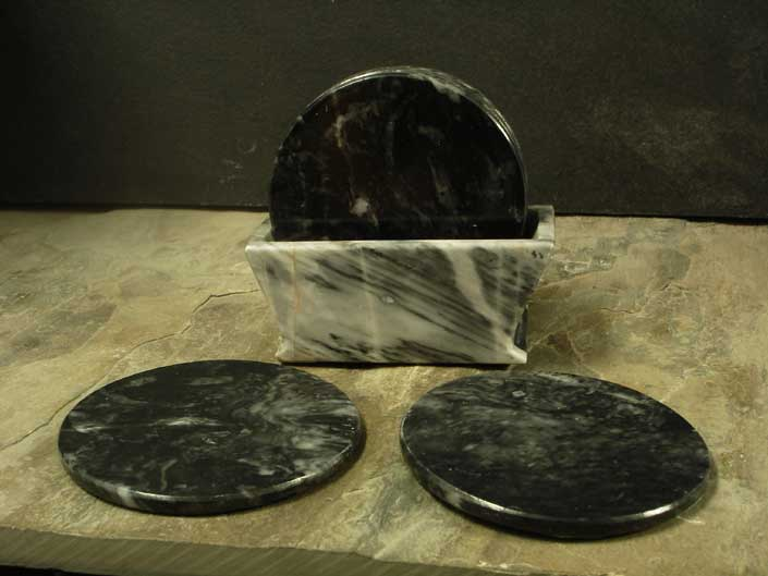 Tempest Clouds Marble Drink Coasters
