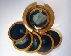 blue beverage coasters
