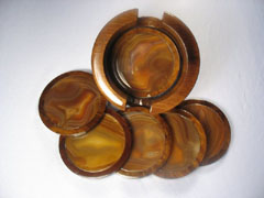 Natural Gemstone Drink Coasters | Coaster Set :  modern home decor unique decorations cup coaster coasters