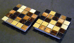 glass drink coasters