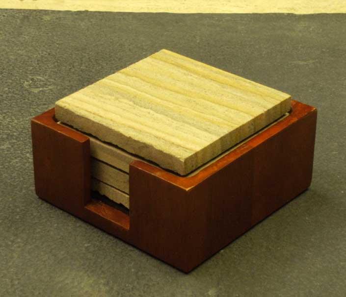 Hardwood Coaster Holders